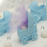 BalsaCircle 12 pcs Plastic Carriage Baby Shower - DIY Favors Party Decorations Crafts Supplies