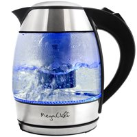 MegaChef 1.8Lt. Glass Body and Stainless Steel Electric Tea Kettle with the Infuser