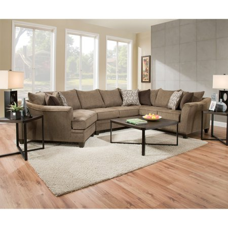 United Furniture 3 Piece Mixed Media Square Table Coffee Table (Allison Coffee Table Set)