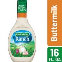 (2 Pack) Hidden Valley Buttermilk Ranch Salad Dressing & Topping, Gluten Free - 16 Oz Bottle