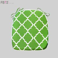 Chair Cushion 16 by 17 Inches Indoor Outdoor Seat Pad Square (Pack of 2, Deep Green, Quatrefoil Lattice) Mat Cover Protector for Garden Patio Home Kitchen Office by FBTS Prime