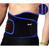 IPOW Premium Back Brace Lower Back Pain Relief Elastic Exercise Belt Gym Sport Running Strap Support Waist Trimmer Belt for Women Men Weight Lifting, ACL, Orthopedic, Herniated Therapy, 44.5in