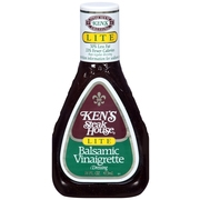 (3 Pack) Ken's Steakhouse Lite Vinaigrette, Balsamic, 16 Fl Oz