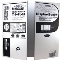 Elmer's Heavy Duty Tri-Fold Display Board, White, 36x48 Inch