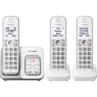 Panasonic KX-TGD533W Expandable Cordless Phone with Call Block and Answering Machine - 3 Handsets