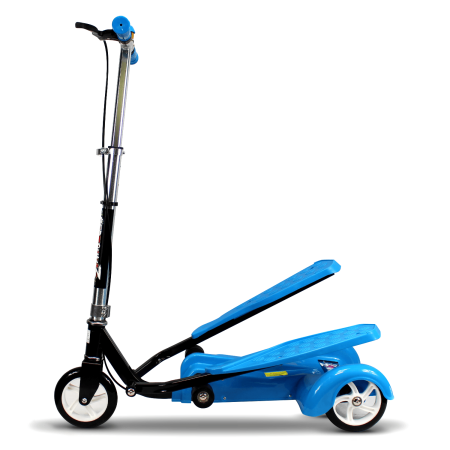 Ped-Run 3 Kids Scooter for Boys and Girls with Advanced Dual Pedal Action, Bike Scooter Hybrid, Blue