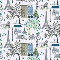 Waverly Inspirations PARIS STLL INK 100% Cotton Print fabric, Quilting fabric, Home Decor ,44'', 140GSM