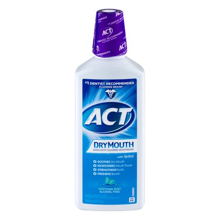 Antibacterial Mouth Rinse (ACT® Dry Mouth Alcohol Free Rinse,)