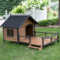 "Boomer & George Lodge House with Porch Dog House, Large, 35.5""x38.5""x32.75"""