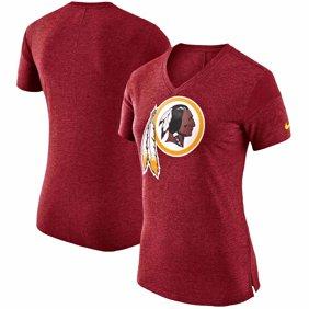 59996a9bb3 Washington Redskins Nike Women s Fan V-Neck T-Shirt - Heathered Burgundy