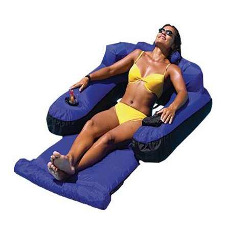 Swimline 9047 Swimming Pool Fabric Inflatable Ultimate Floating Lounger Chair - Slimer Inflatable