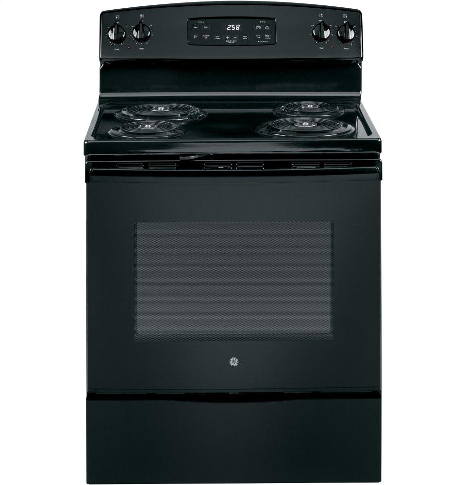GE Appliances JB258DMBB, Coil Top, Black