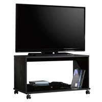 Mainstays TV Cart for Flatscreen TVs up to 32 inches and 25 lbs., True Black Oak Finish