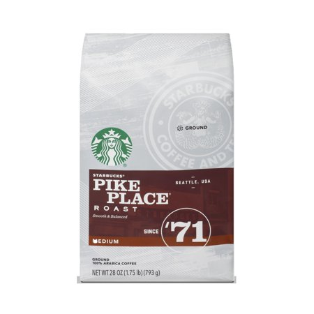 Starbucks Pike Place Roast Medium Roast Ground Coffee, 28-ounce