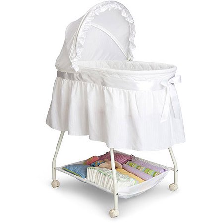 Delta Children Classic Sweet Beginnings Bassinet, (Baby Boy Cradle)