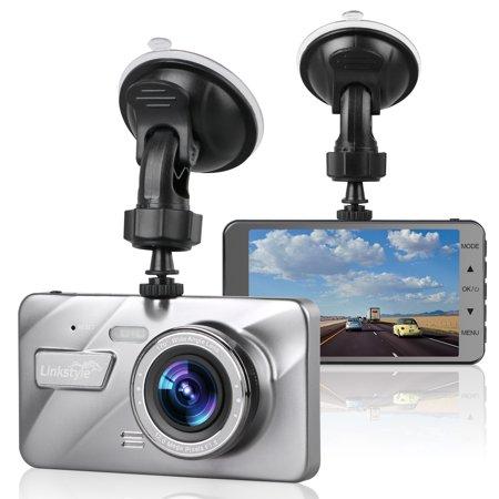 "LinkStyle 4"" IPS Screen Full HD 1080P DVR Dash Cam Car Dashboard Camera Video Recorder G-sensor Emergency Recording, Night vision, WDR, Loop Recording, Parking Mode"