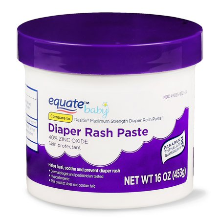 Equate Baby Diaper Rash Paste, 16 Oz