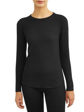 Hanes Women's X-Temp Thermal Waffle Crew Top with FreshIQ