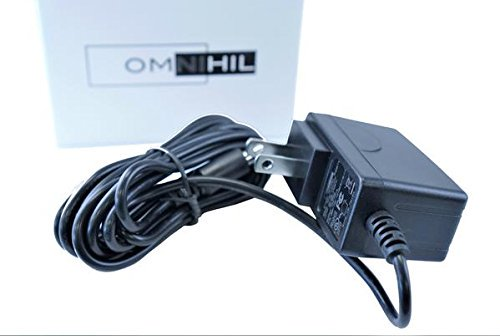 OMNIHIL AC/DC Power Adapter Compatible with Hallomall 15W 24LED Spotlights Work Lights Outdoor Camping Lights Power Supply