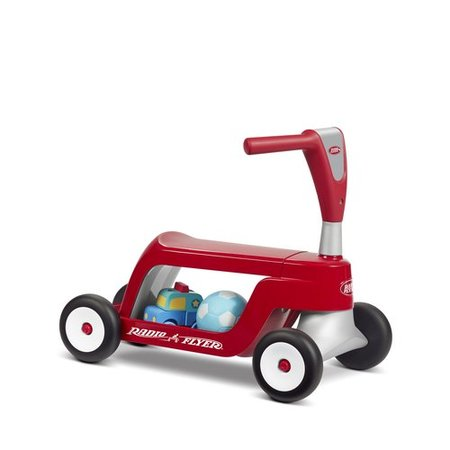 Radio Flyer, Scoot 2 Scooter, 2-in-1 Ride-On and Scooter,