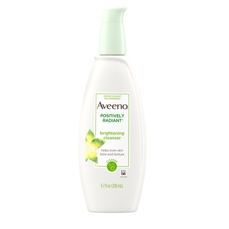 Dmae Foaming Facial Cleanser - Aveeno Positively Radiant Brightening Facial Cleanser, 6.7 fl. oz