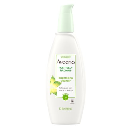- Aveeno Positively Radiant Brightening Facial Cleanser, 6.7 fl. oz