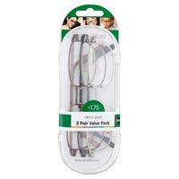 Optx 20/20 Staple OE4 +1.75, Reading Glasses Value Pack, 3 count