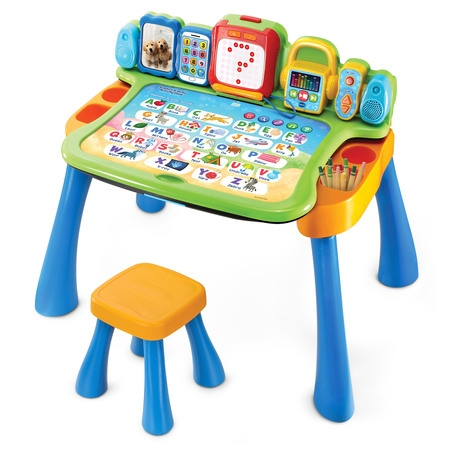 VTech Explore & Write Activity Desk Transforms into Easel & (Learning Times Tables Kids)