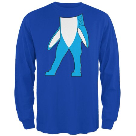 halloween left shark body costume mens long sleeve t shirt