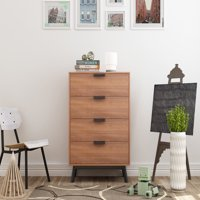 Mainstays Mid Century Modern 4 Drawers Chest in Multiple Finish