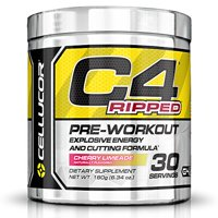Cellucor C4 Ripped Explosive Energy & Cutting Formula Pre-Workout Powder, Cherry Limeade, 30 Servings