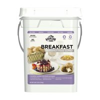 Augason Farms Breakfast Emergency Food Supply 11 lbs 1. 8 oz 4 Gallon Pail