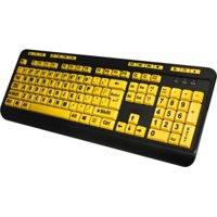 Adesso EasyTouch 132 Luminous 4X Large Print Multimedia Desktop Keyboard