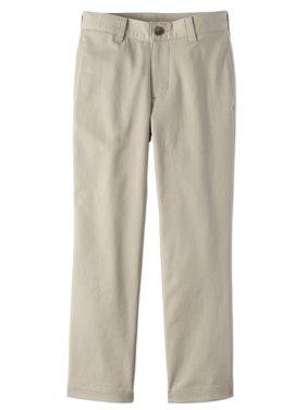Boys Slim School Uniform Stretch Super Soft Flat Front Pants