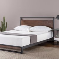 Zinus Suzanne Metal and Wood Platform Bed with Headboard