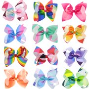 21247d266757 12Pcs Hair Clips, Multicolor Hair Barrettes Hair Bows Hair Pins Hair  Accessories for Baby Girls
