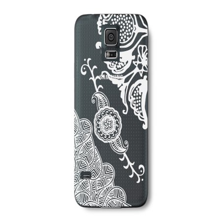 Flower India Henna Tattoo Style Phone Case for the Samsung Note 4 - Floral Pattern (Samsung Note 4 White Price In India)