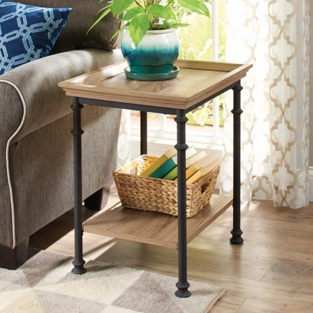 Better Homes & Gardens River Crest Side Table, Rustic Oak - Oak Height