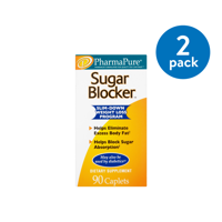(2 Pack) PharmaPure Sugar Blocker Weight Loss Caplets, 90 Ct