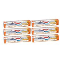 (6 Pack) Aquafresh Extreme Clean Whitening Action Mint Blast Fluoride Toothpaste 5.6 oz. Box