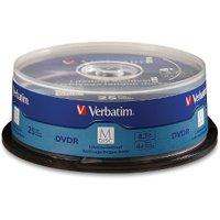 Verbatim DVD Recordable Media - DVD-R - 4x - 4.70 GB - 25 Pack Spindle - 120mm - 2 Hour Maximum Recording Time