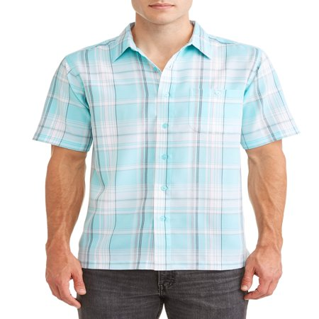 Men's and Big Men's Short Sleeve Microfiber Shirt, up to size