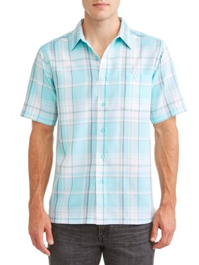 Men's and Big Men's Short Sleeve Microfiber Shirt, up to size 5XL