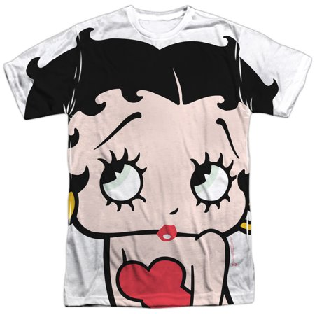 Betty Boop 1930's Animated Character Icon Pucker Up Adult 2-Sided Print T-Shirt