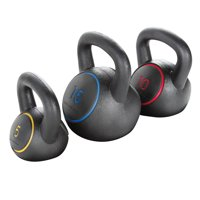 Gold's Gym Kettlebell Kit, 5 -15 Lbs. with Exercise Chart
