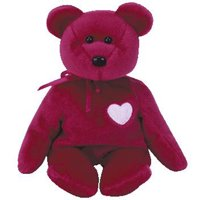 TY Beanie Baby - VALENTINA the Red Bear (8.5 inch)