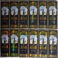 5 STAR JUMBO PLAYING CARD 12 PACK - BLACK & GOLD