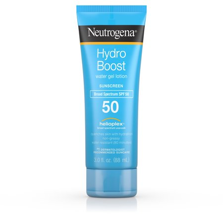 Neutrogena Hydro Boost Gel Moisturizing Sunscreen Lotion, SPF 50, 3 fl.
