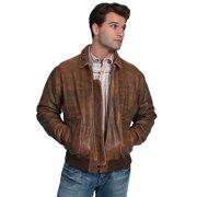 ff4913c6 Scully Western Jacket Mens Leather Zip Bi-swing Knit Waist Bark 714-12