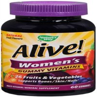 2 Pack - Nature's Way Alive! Womens Multivitamin Chewable Gummies 60 ea